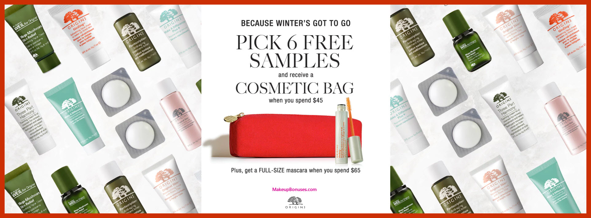 Receive your choice of 7-pc gift with $45 Origins purchase