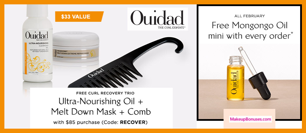 Receive a free 3-pc gift with $85 Ouidad purchase