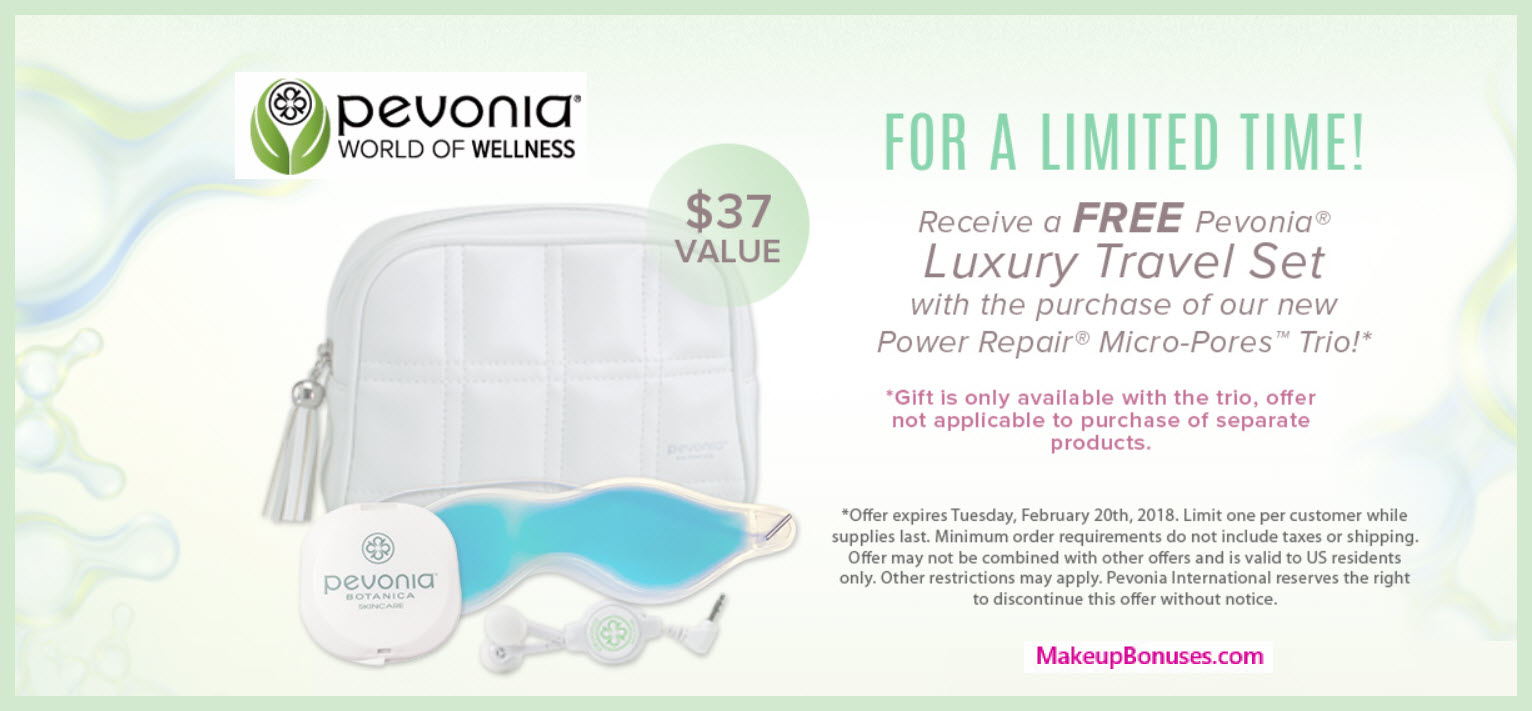 Receive a free 4-pc gift with Power Repair Micro-Pores Trio purchase