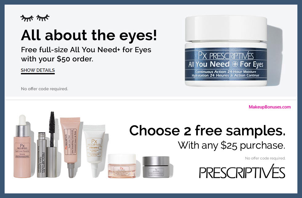 Receive your choice of 3-pc gift with $50 Prescriptives purchase