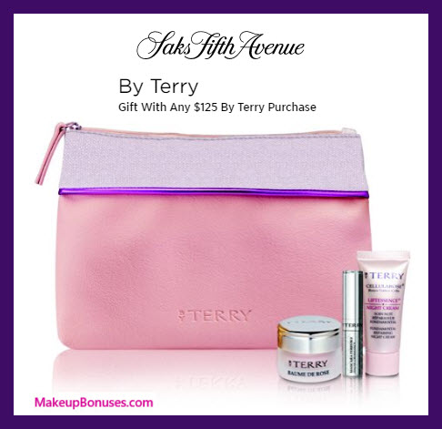 Receive a free 4-pc gift with $125 By Terry purchase