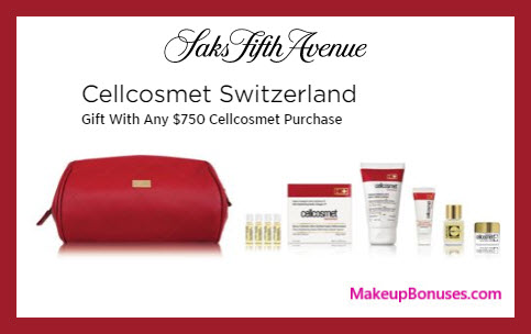 Receive a free 8-pc gift with $750 Cellcosmet Switzerland purchase