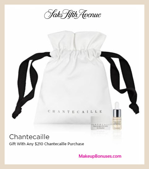 Receive a free 3-pc gift with $210 Chantecaille purchase