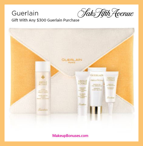 Receive a free 5-pc gift with $300 Guerlain purchase