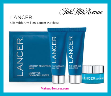 Receive a free 4-pc gift with $150 LANCER purchase