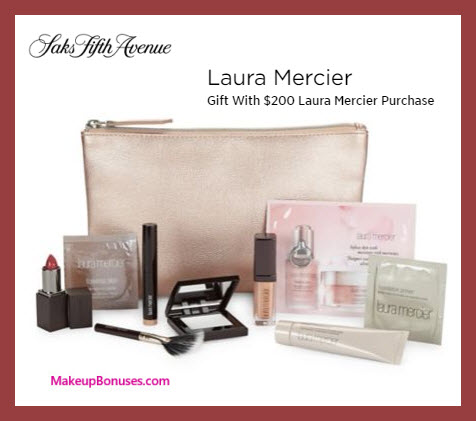 Receive a free 10-pc gift with $200 Laura Mercier purchase