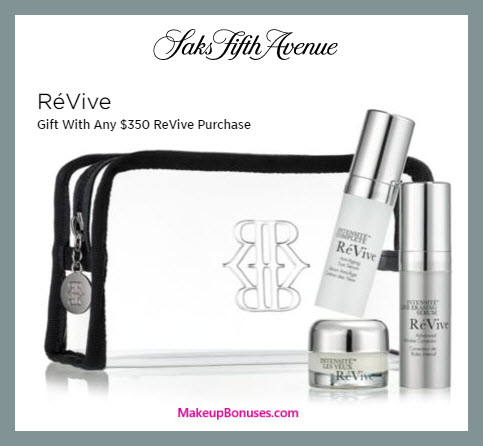 Receive a free 4-pc gift with $350 RéVive purchase