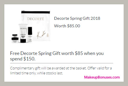 Receive a free 4-pc gift with $150 Decorté purchase