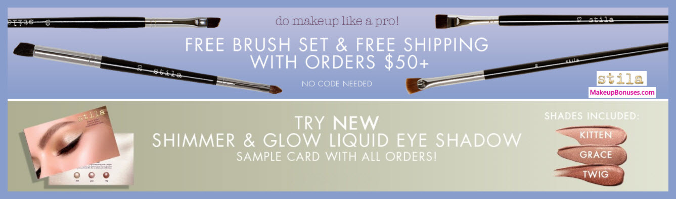 Receive a free 4-pc gift with $50 Stila purchase