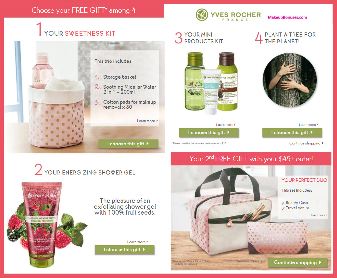 Receive a free 5-pc gift with $45 Yves Rocher purchase