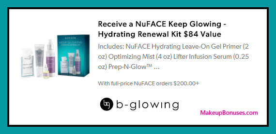 Receive a free 4-pc gift with $200 NuFace purchase