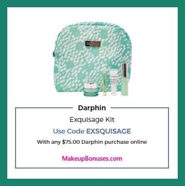 Receive a free 5-pc gift with $75 Darphin purchase
