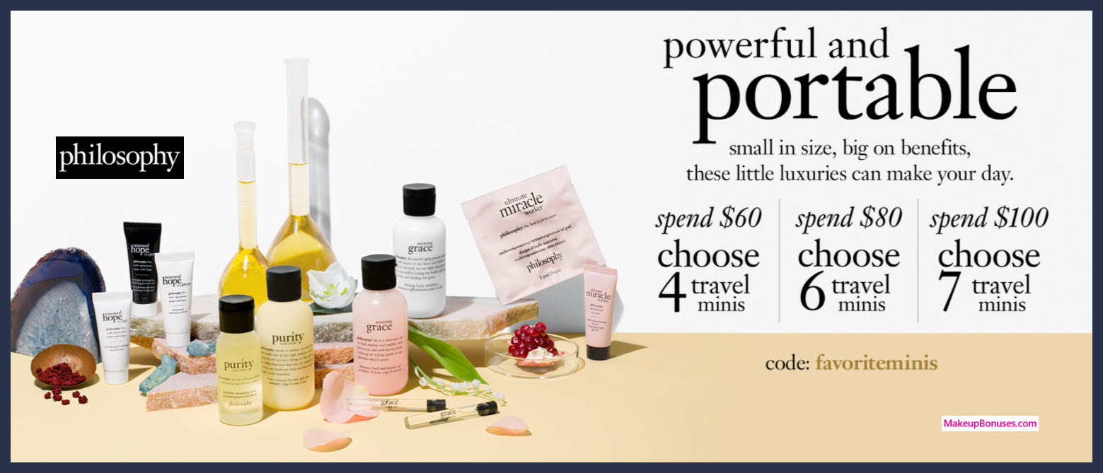 Receive your choice of 4-pc gift with $60 philosophy purchase