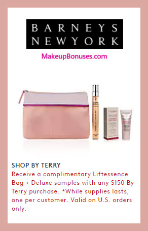 Receive a free 3-pc gift with $150 By Terry purchase