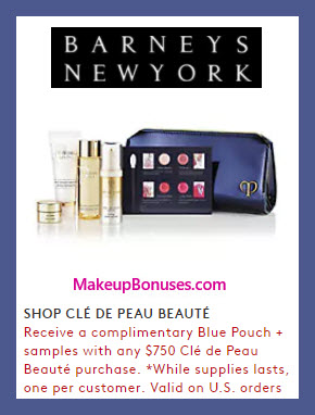 Receive a free 6-pc gift with $750 Clé de Peau Beauté purchase