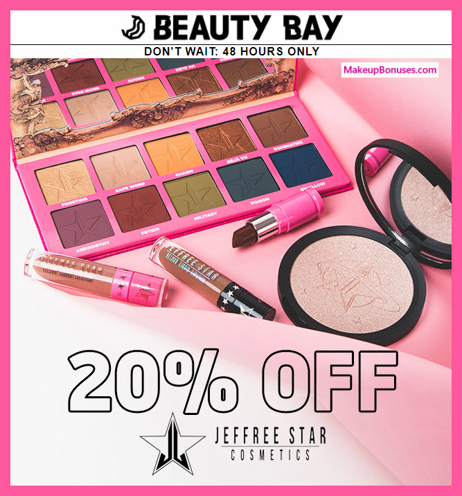 JeffreeStar 20% Off at Beauty Bay - MakeupBonuses.com