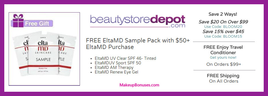 Receive a free 4-pc gift with $50 EltaMD purchase