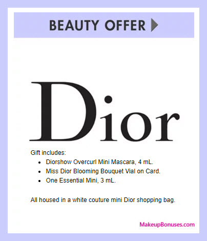 Receive a free 3-pc gift with $200 Dior Beauty purchase