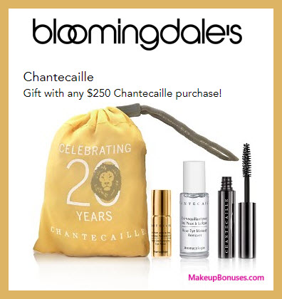 Receive a free 4-pc gift with $250 Chantecaille purchase