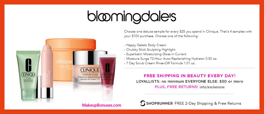 Receive your choice of 3-pc gift with $75 Clinique purchase