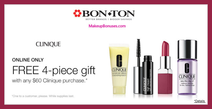 Receive a free 4-pc gift with $60 Clinique purchase