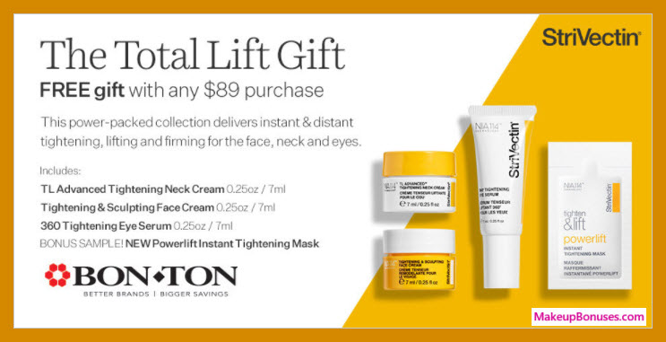 Receive a free 4-pc gift with $89 StriVectin purchase