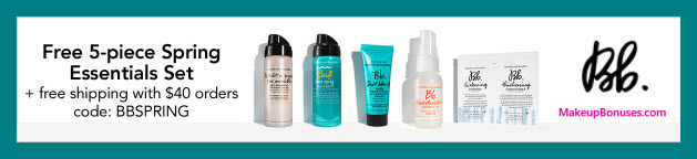 Receive a free 5-pc gift with $40 Bumble and bumble purchase