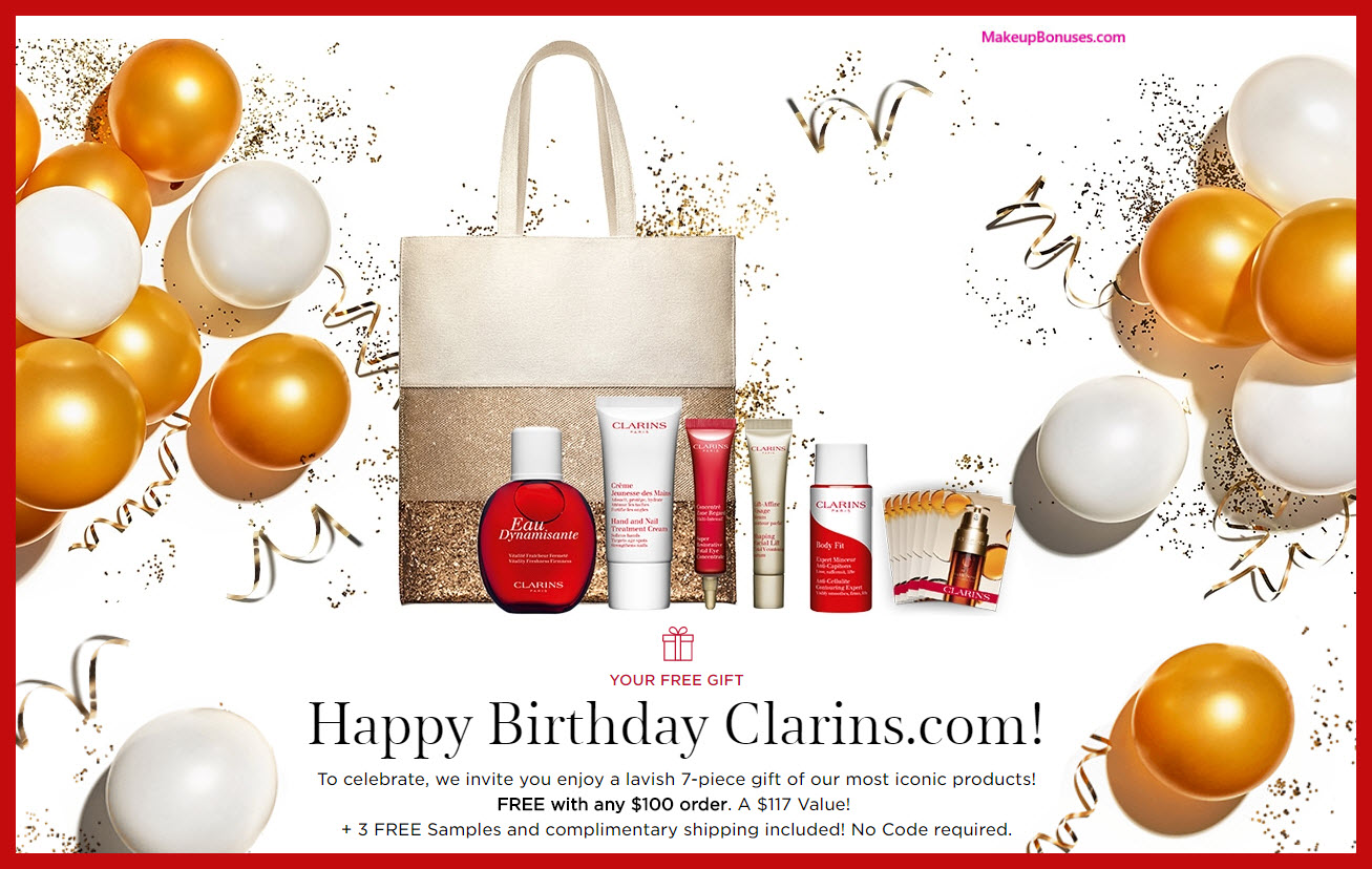 Receive a free 7-pc gift with $100 Clarins purchase