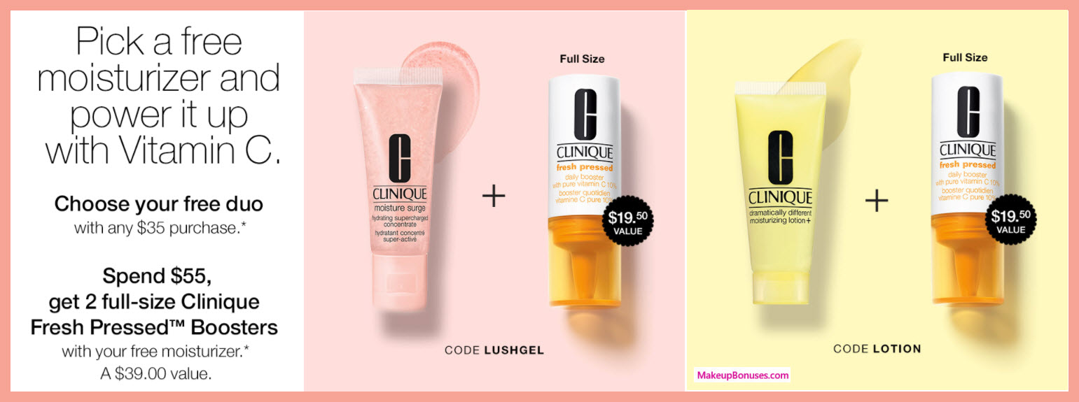 Receive a free 3-pc gift with $55 Clinique purchase