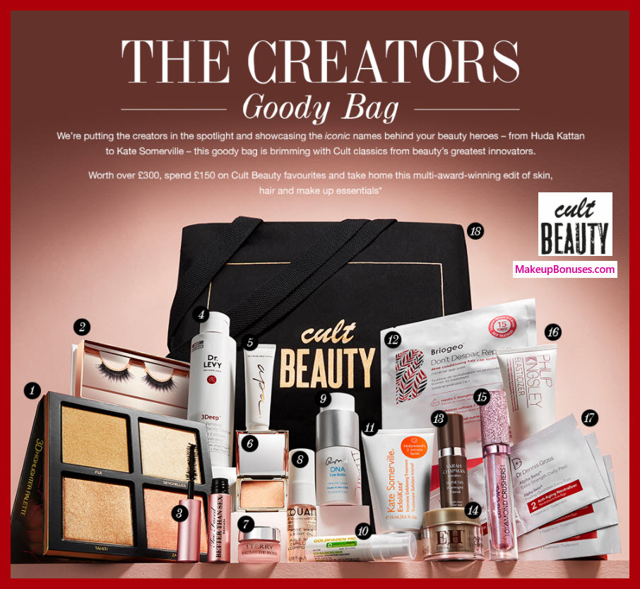 Receive a free 18-pc gift with ~$207 (150 GBP) purchase