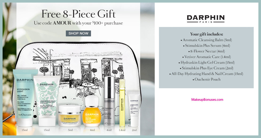 Receive a free 7-pc gift with $100 Darphin purchase