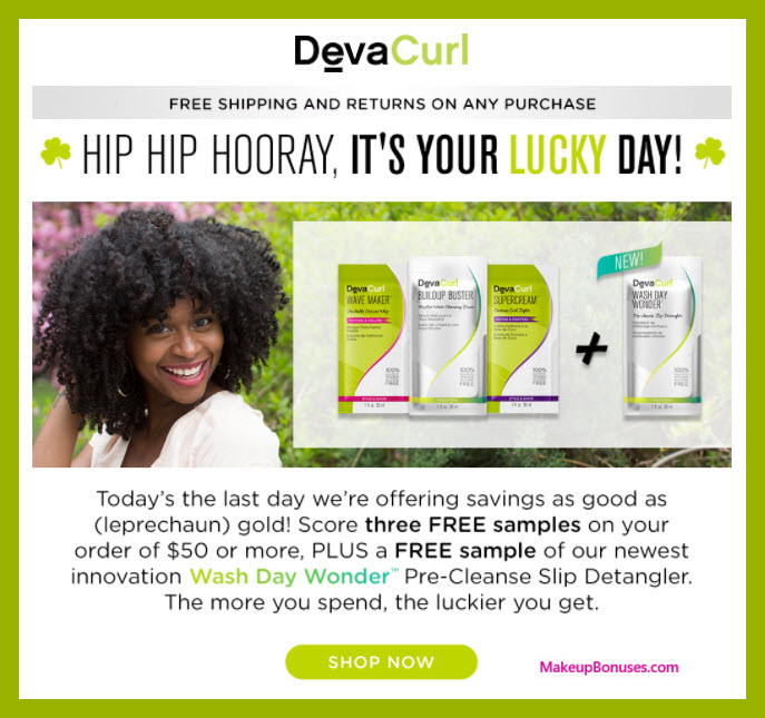 Receive a free 4-pc gift with $50 DevaCurl purchase