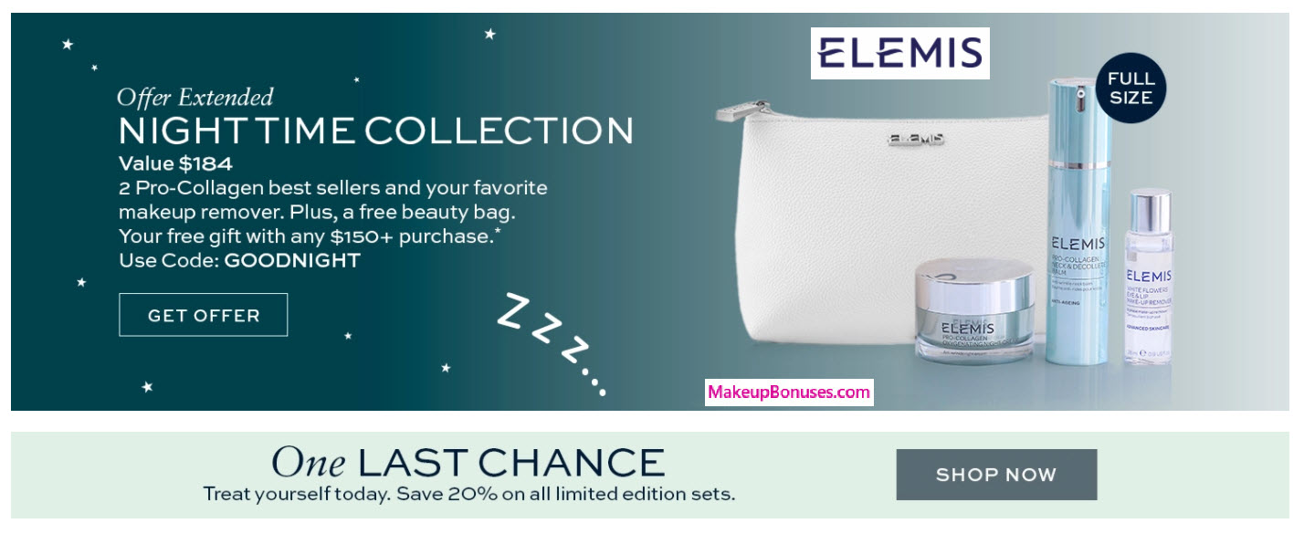 Receive a free 4-pc gift with $150 Elemis purchase