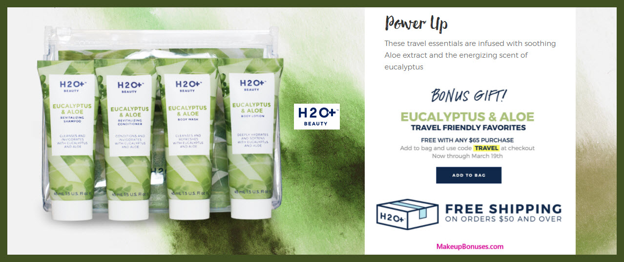 Receive a free 4-pc gift with $65 H2O+ Beauty purchase