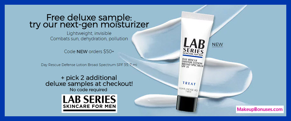 Receive a free 3-pc gift with $50 LAB SERIES purchase