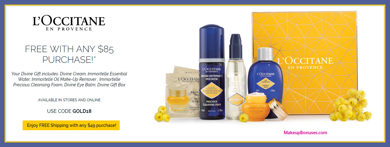 Receive a free 6-pc gift with $85 L'Occitane purchase