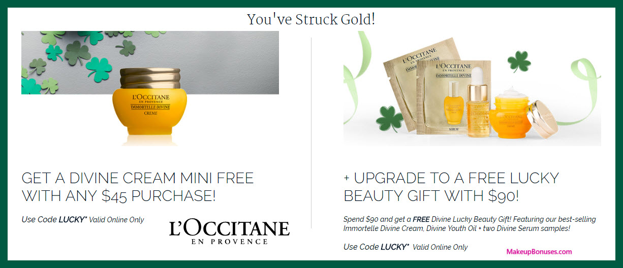 Receive a free 4-pc gift with $90 L'Occitane purchase