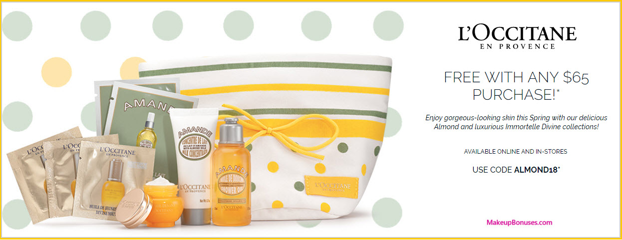 Receive a free 9-pc gift with $65 L'Occitane purchase