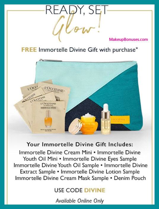 Receive a free 8-pc gift with $90 L'Occitane purchase