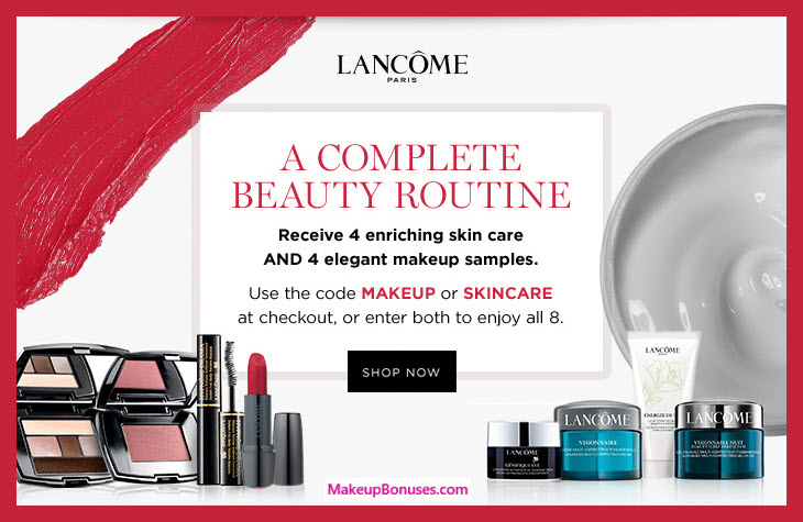 Receive a free 8-pc gift with $75 Lancôme purchase