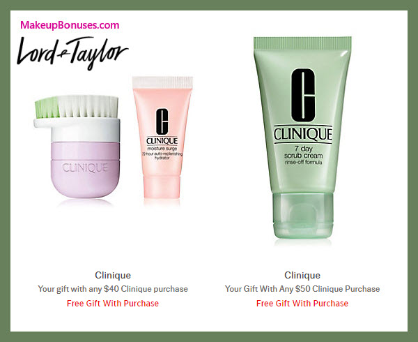 Receive a free 3-pc gift with $50 Clinique purchase