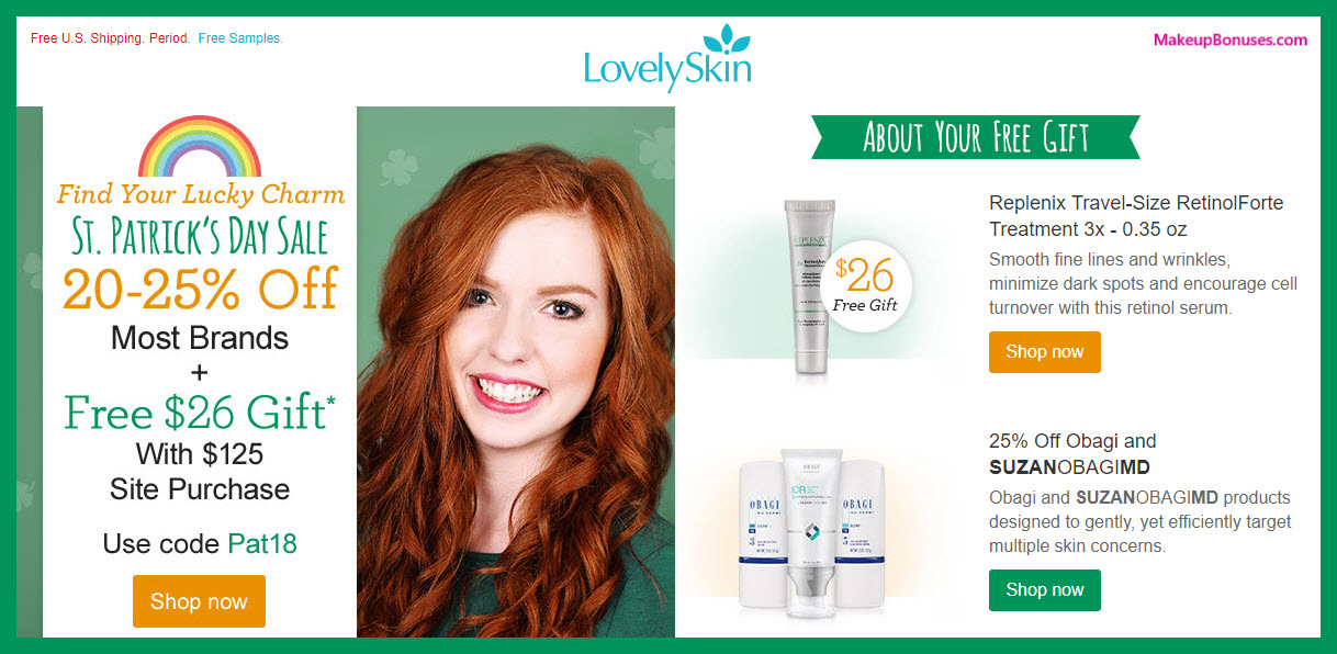 LovelySkin Beauty Discounts + Free Bonus Gift - MakeupBonuses.com