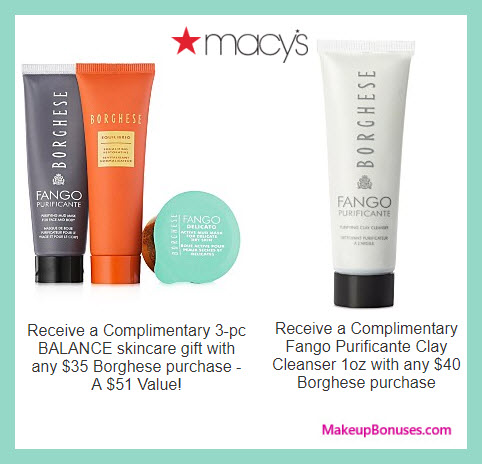 Receive a free 3-pc gift with $35 Borghese purchase