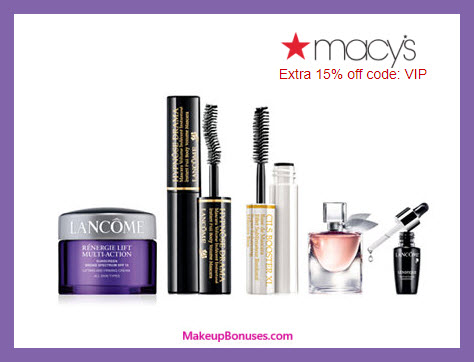 Receive a free 5-pc gift with $85 Lancôme purchase