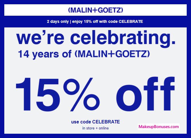 Malin+Goetz 15% Anniversary Sale - MakeupBonuses.com