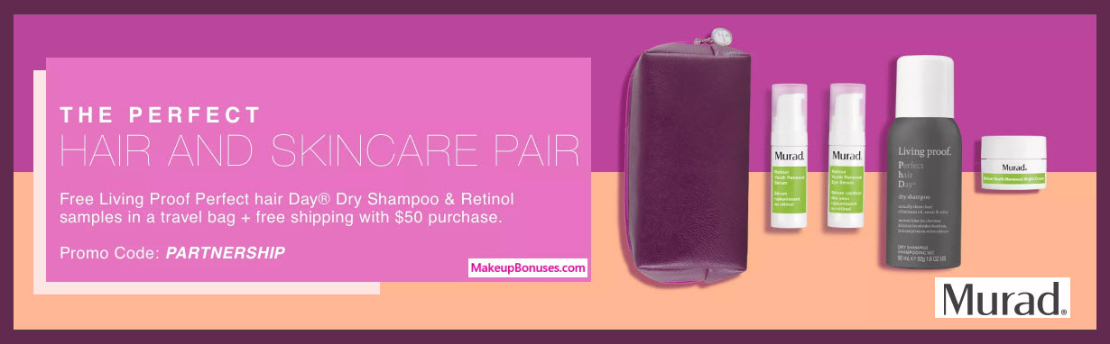 Receive a free 5-pc gift with $50 Murad purchase
