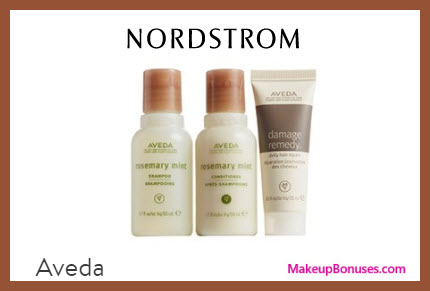 Receive a free 3-pc gift with $50 Aveda purchase