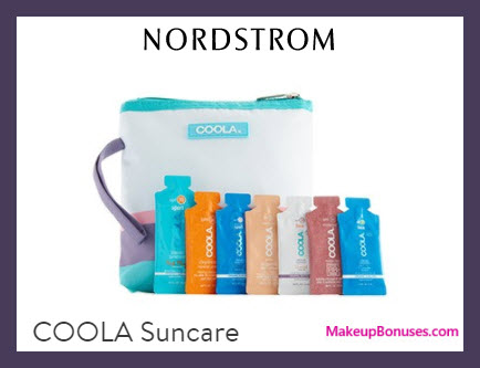Receive a free 8-pc gift with $35 COOLA purchase