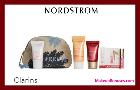 Receive a free 5-pc gift with $45 Clarins purchase