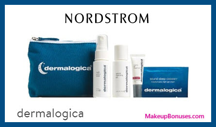 Receive a free 5-pc gift with $80 Dermalogica purchase